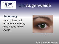 Deutsch lernen - Die schönsten deutschen Wörter:  die Augenweide