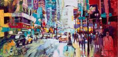 Artist : 	Voka . Title : 	NYC 6 Media : 	Original - Acrylic on Canvas Size : 	120 x 250cm Price : 	www.ArtCatto.com
