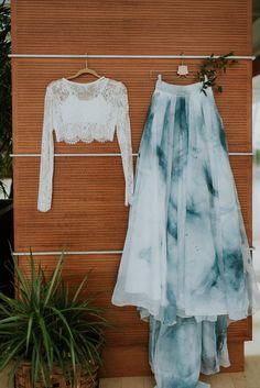 Wedding Skirt Tennyson Handpainted Skirt by sweetcarolinestyles Indian Fashion Dresses, Indian Bridal Outfits, Indian Gowns Dresses, Dress Indian Style, Indian Designer Outfits, Lehenga Designs, Kurti Designs Party Wear, Stylish Sarees, Stylish Dresses