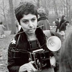 """Diane Arbus in Central Park, by Garry Winogrand """"The world can only be grasped by action, not by contemplation. The hand is the cutting edge of the mind"""" ~ Diane Arbus Diane Arbus, Street Photography, Portrait Photography, Night Photography, Landscape Photography, Garry Winogrand, Robert Frank, Vivian Maier, Transgender People"""