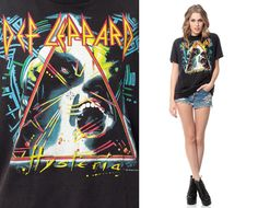 DEF LEPPARD Shirt 80s TShirt Hysteria Tour Band T by ShopExile