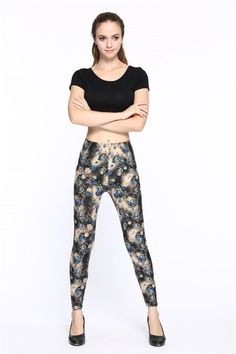 New 2016 Multiple Colors Flower Printed Legging Fashion Slim Women leggings Thin High Elastic Cotton Causal Fitness Pants