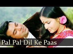 Pal Pal Dil Ke Paas Lyrics by Kishore Kumar & Lata Mangeshkar a Romantic song of 2009 with the music given by Kalayanji Anandji. Pal Pal Dil Ke Paas Song Lyrics are Written by Rajinder Krishan. Hindi Old Songs, Hindi Movie Song, Film Song, Movie Songs, Hit Songs, Old Bollywood Songs, Bollywood Stars, Kishore Kumar Songs, Lata Mangeshkar Songs