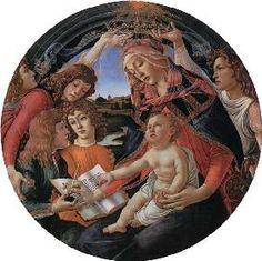 Sandro Botticelli - Madonna mit Kind und fünf Engeln