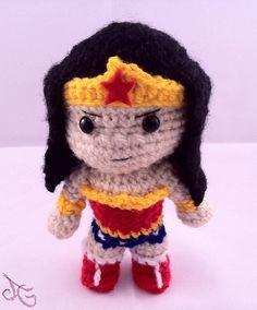 PDF CROCHET PATTERN Chibi Wonder Woman by AmiAmaLiliumDesigns