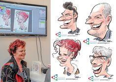 Digitaal optreden tijdens VAS2016-beurs - De Karikaturist