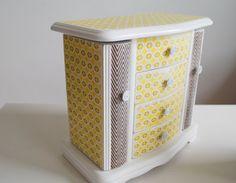 Vintage Inspired Refurbished Jewelry Box. $50.00, via Etsy.
