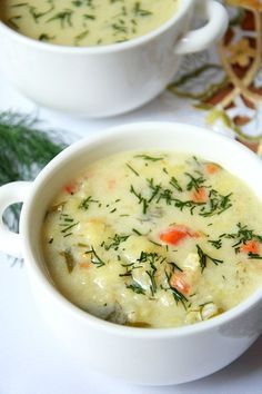 Zupa kalafiorowa Clean Recipes, Soup Recipes, Vegetarian Recipes, Cooking Recipes, Healthy Recipes, Grandma Cooking, Light Soups, Dessert For Dinner, Healthy Soup