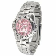 "North Carolina Wilmington Seahawks NCAA Mother of Pearl ""Sport"" Ladies Watch (Metal Band) by SunTime. $73.80. Rotation Bezel/Timer. Calendar Date Function. Scratch Resistant Face. This handsome, eye-catching watch comes with a stainless steel link bracelet. A date calendar function plus a rotating bezel/timer circles the scratch resistant crystal. Sport the bold, colorful, high quality logo with pride. The hypnotic iridescence of our natural blush mother of pear..."
