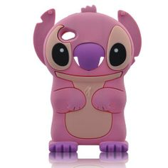 PINK Cartoon 3D iPod Touch 4 Soft Silicone Case for iPod Touch 4/4g/4th