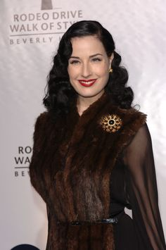 DITA VON TEESE at the Rodeo Drive Walk of Style Award