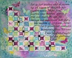 Gelli® printed Paper Quilt by Gwen Thomas - made in the class taught by Artful Stories with Anna - more classes happening in May - click on picture for details!