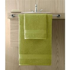 Bamboo by Kassatex with a cashmere like feel and available in 12 colors is a favorite with interior designers. Shown: Aloe (Bright Green). Collection starting at $9.95