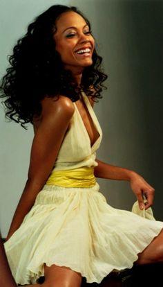 Zoe Saldana - Love the Hair! Zoe Saldana, Curly Hair Styles, Natural Hair Styles, Natural Beauty, Meagan Good, Curl Curl, Pelo Natural, Ethnic Hairstyles, Black Girls Rock