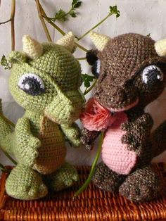 Amigurumi Baby Dragon Crochet Pattern PDF. $5.00, via Etsy.