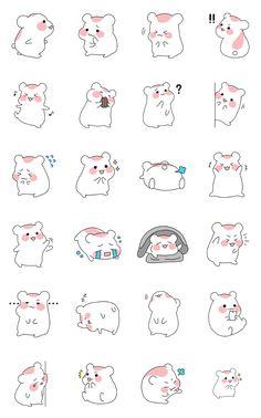 Kawaii Doodles, Cute Doodles, Kawaii Art, Mini Drawings, Cute Easy Drawings, Kawaii Stickers, Cute Stickers, Bullet Journal Kawaii, Cute Animal Drawings Kawaii