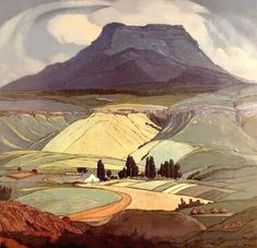 1929 by Jacobus Hendrik Pierneef (South African, Majuba Natal, South… Abstract Landscape, Landscape Paintings, Illustrations, Illustration Art, South African Artists, Art For Art Sake, Art Graphique, Painting Inspiration, Painting & Drawing