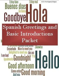 This is a super-charged, super-fun activity, practice and games packet all about greetings and introductions in Spanish, 170 pages/slides in all!...