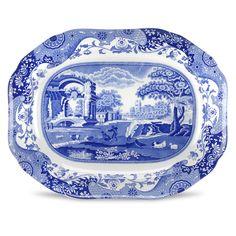 Blue Italian Oval Platter