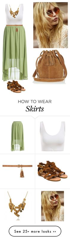 """""""brown skirt green sandals"""" by niceprofile on Polyvore"""