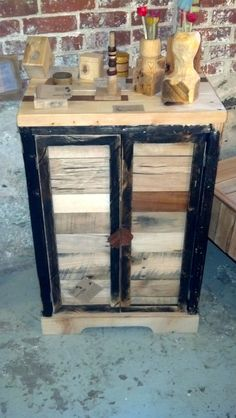 pallet wood jelly cabinet accent storage by timsway on Etsy, $425.00