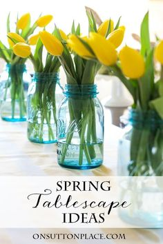 Spring Easter Tablescape Ideas