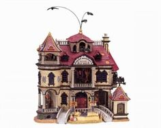 Madam Ashbury's House Of Wax--Lemax Lemax Christmas Village, Lemax Village, Halloween Village, Christmas Villages, Halloween Art, Halloween Decorations, Cool Lego, Little Houses, New Age
