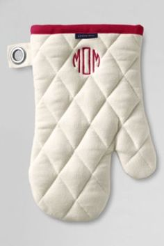 great gift for a shower or cook! monogram Canvas Oven Mitt from Lands' End