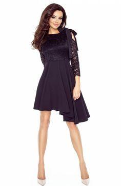 d294e92b93 Bergamo 78-03 sukienka czarna - Sukienki na studniówkę 2018 - Sukienki  Bergamo - Rozkloszowane sukienki - Sklep