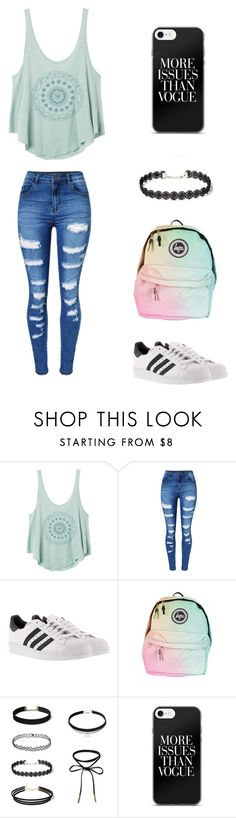 """Sin título #255"" by karenrodriguez-iv on Polyvore featuring moda, RVCA, WithChic y adidas"