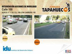 Intervención Acciones de Movilidad en la Calle 100 con carrera 11 B
