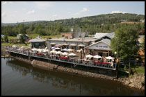 The Pump House, Fairbanks, Alaska - great food, great view,  scarey grizzly! :-)