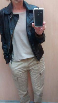 Thrifted biker jacket