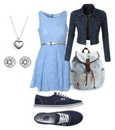 """Summer outfit"" by jacquelinebroersen on Polyvore featuring mode, Glamorous, LE3NO, Vans, Pandora, Michael Kors, Aéropostale, women's clothing, women en female"