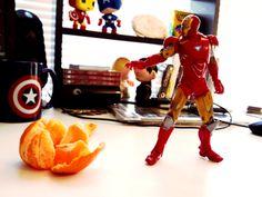 Iron Man defeating the Mandarin.