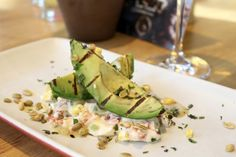 Guilt Free Eating at True Food Kitchen Atlanta - Grilled Avocado with goat cheese