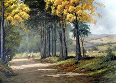 Voltando para casa, s.d. Clóvis Péscio (Brasil, 1951) óleo sobre tela, 50 x 70 cm