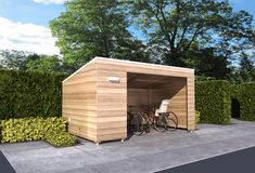 Want to know about how to build a sheds? Then this is without doubt the right place! Bike Storage Modern, Bicycle Storage Shed, Outdoor Bike Storage, Garden Storage Shed, Bike Shed, Outside Living, Outdoor Living, Bike Shelter, Diy Carport