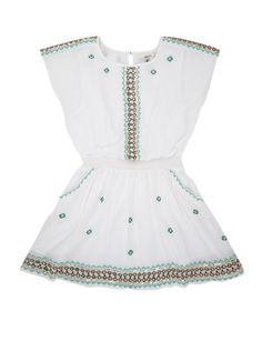 Pepe Jeans Valeria jurk met pailletten en borduring • de Bijenkorf