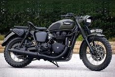 Green on Matte Black Triumph Thruxton 2013 What I want between my legs...