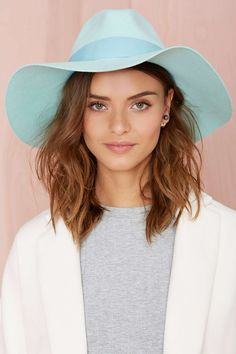 Jasmine Wool Hat - Mint | Shop Hair + Hats at Nasty Gal