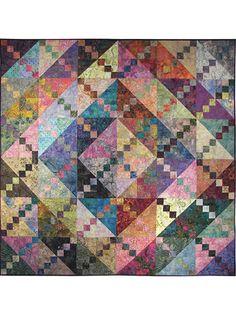Fat Quarter Lap Quilt & Throw Patterns - Bermuda Sunrise Quilt Pattern