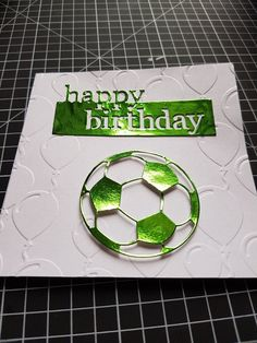 personalised birthday card Girls Football  any name//age//relation