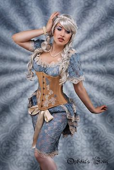 Vintage Blue Lace Boudoir Bloomers  STEAMPUNK Burlesque FROZEN MEMORIES By Aphrodites Folly.