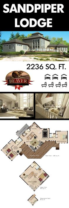 Show stealing rooms with two story windows and open concept design, this dream home is perfect for sharing with friends and family. #BeaverHomesAndCottages