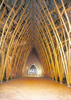 Temporary cathedral in  guadua (Bamboo) Pereira - Colombia