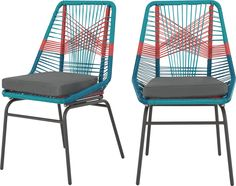 Set of 2 Copa Garden Dining Chairs, Multi from Made.com. Multi-Coloured. NEW Looking for the coolest piece of garden furniture on the block? Copa is..