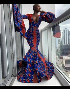 African wedding dress for women,african clothing for women, floor length african wedding dress,long ankara dress,homecoming dress African Prom Dresses, Ankara Dress Styles, African Wedding Dress, African Fashion Dresses, Ankara Fashion, Dresses Dresses, Short Dresses, African Fashion Designers, African Inspired Fashion