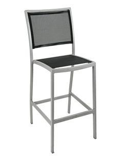 Florida Seating Armless Restaurant Barstool / Aluminum & Textile