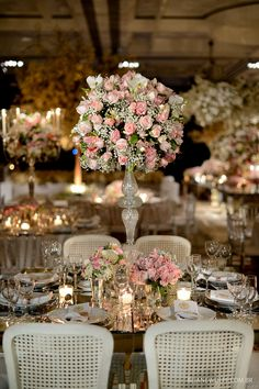 50 wedding centerpieces decor for you to choose 5 Trendy Wedding, Elegant Wedding, Floral Wedding, Wedding Flowers, Dream Wedding, Wedding Table Decorations, Wedding Centerpieces, Wedding Bouquets, Winter Decorations